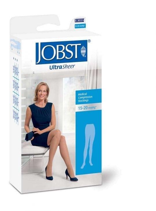 Ultrasheer 15-20mmHg medical compression pantyhose for leg health