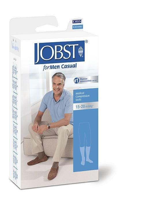 Jobst For Men 15-20 Casual Knee High Compression Socks Black & White Australia