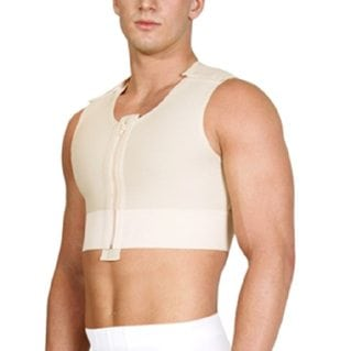 Short Male Breast Compression Vest
