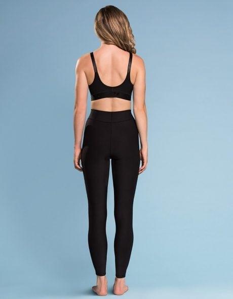 Womens Marena Comfort Active Sports Black Compression Leggings