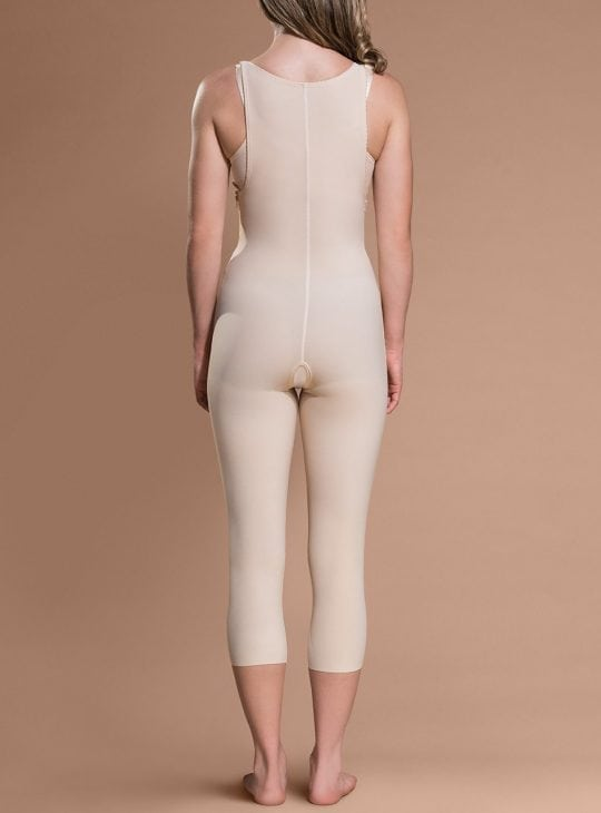 Marena Bodysuit below Knee in beige COmpression Garments on Bodyment