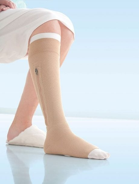 Jobst UlcerCare compression zipper socks Australia.