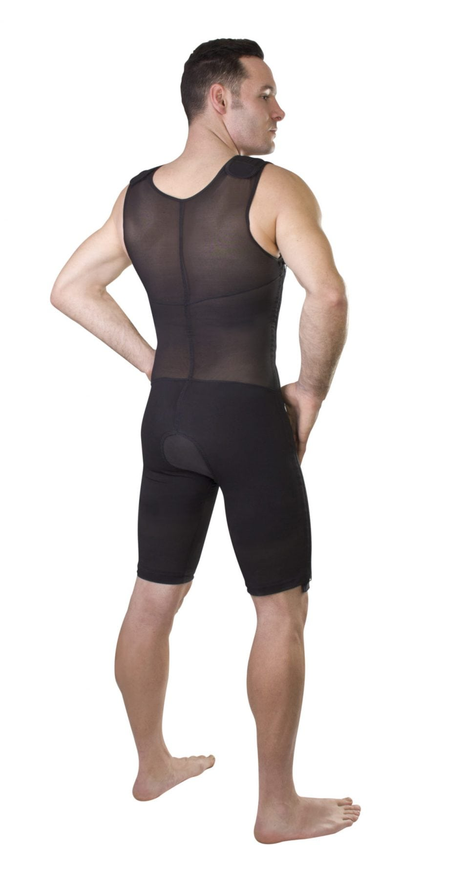 ClearPoint Medical Men s Black Sleeveless Compression Bodysuit ... 574512a82