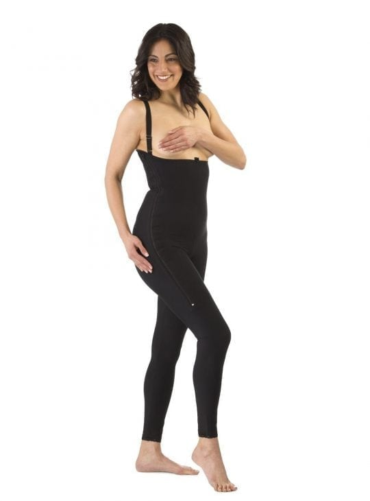Clearpoint Full Ankle Length Black Compression Bodysuit