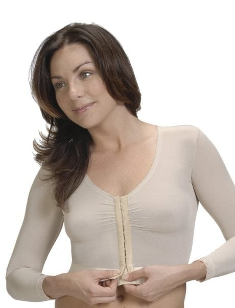 ClearPoint Medical Pressure Vest with Sleeves in Natural and Cream Australia