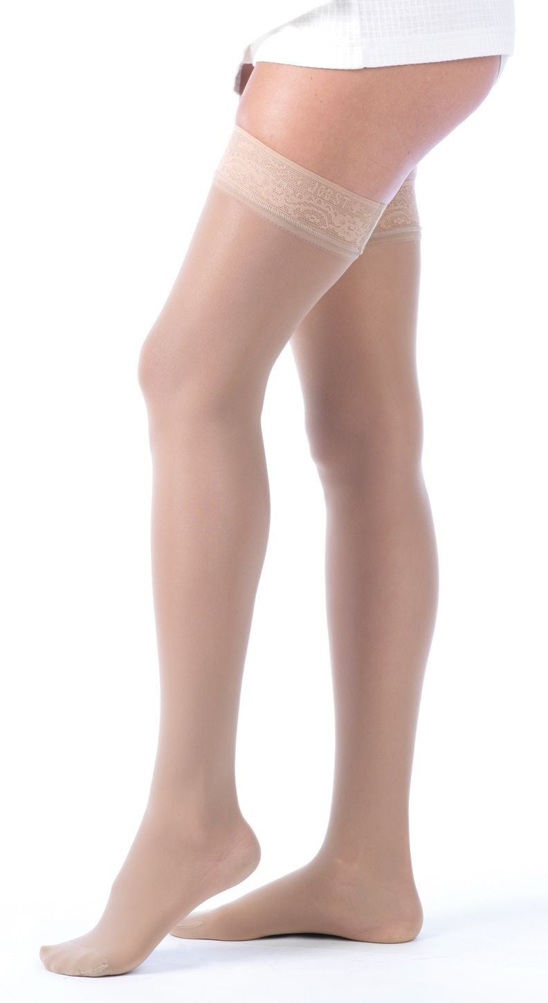 0b28758b56473 JOBST® Ultrasheer Thigh High W/Lace Band Compression Stockings -  Australia's Compression Garment Specialists