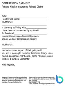 Health Insurance Rebate Claim PDF by Bodyment Compression Australia