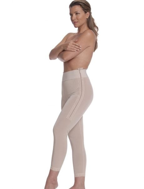 Calf Length Compression Girdle with Suspenders