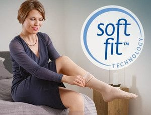 Ultrasheer Soft Fit silky knee high compression socks