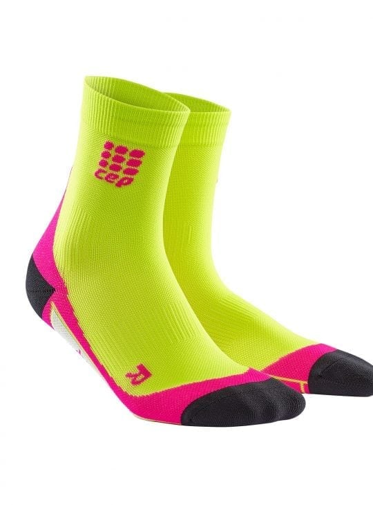 Lime p[ink short socks
